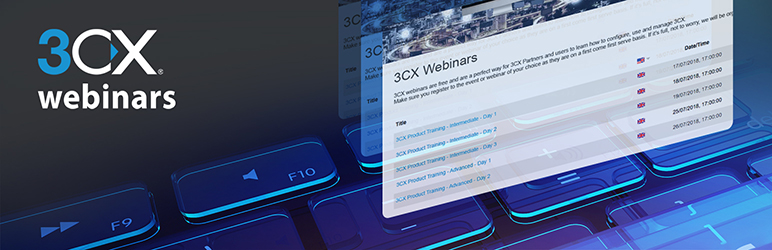 WordPress 3CX Webinars Plugin Banner Image