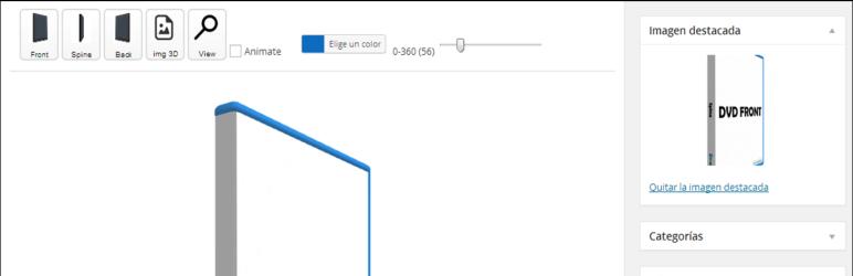 WordPress 3D DVD Cover (WebGL and THREE JS) Plugin Banner Image
