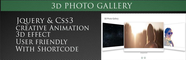 WordPress 3D Photo Gallery Plugin Banner Image