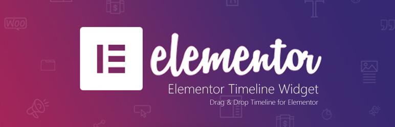 WordPress Elementor Timeline Widget Plugin Banner Image