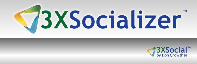 WordPress 3xSocializer Plugin Banner Image