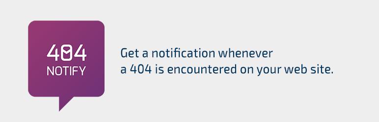 WordPress 404 Notify Plugin Banner Image