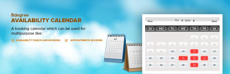 WordPress 8 Degree Availability Calendar Plugin Banner Image