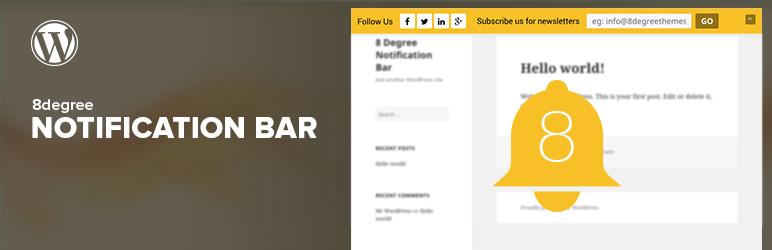 WordPress Notification Bar for WordPress Plugin Banner Image
