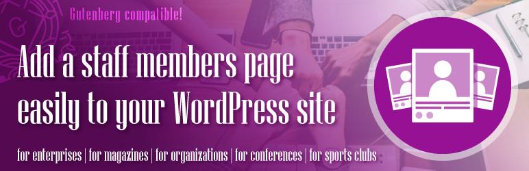 WordPress a-staff – Team member showcase plugin for WordPress Plugin Banner Image