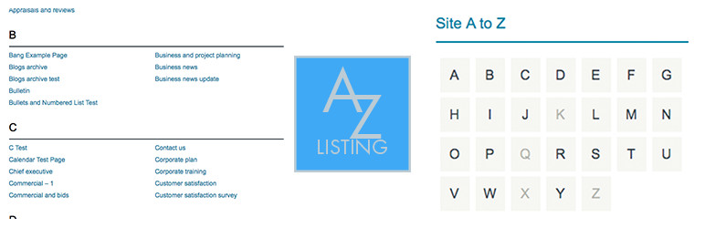 WordPress A-Z Listing Plugin Banner Image