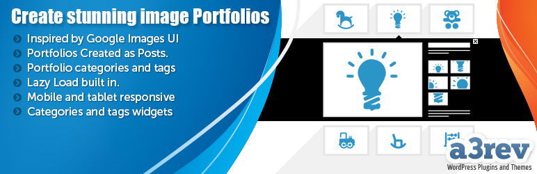 WordPress a3 Portfolio Plugin Banner Image