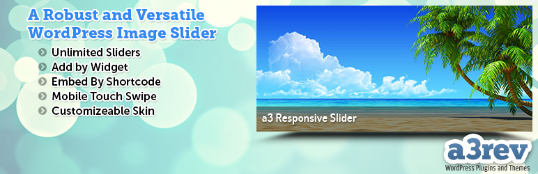 WordPress a3 Responsive Slider Plugin Banner Image