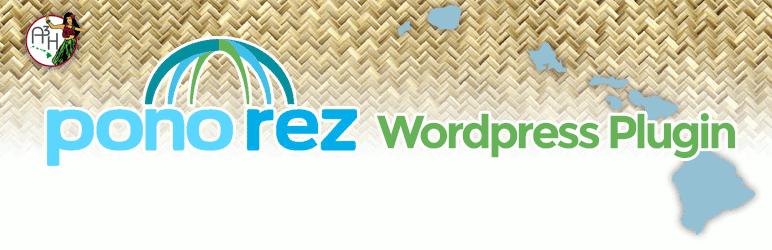 WordPress A3H Pono Rez Reservation Interface for WordPress Plugin Banner Image