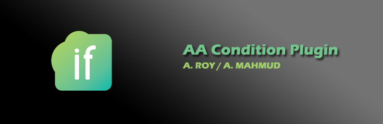 WordPress AA Condition Plugin Plugin Banner Image