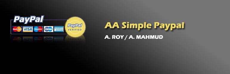 WordPress AA Simple Paypal Plugin Banner Image