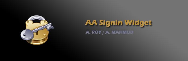WordPress AA Signin Widget Plugin Banner Image