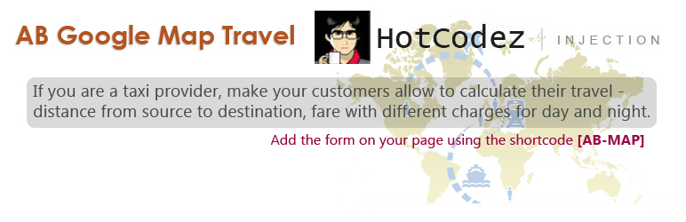 WordPress AB Google Map Travel (AB-MAP) Plugin Banner Image