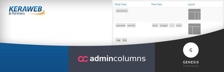 WordPress Admin Columns – Genesis Framework add-on Plugin Banner Image