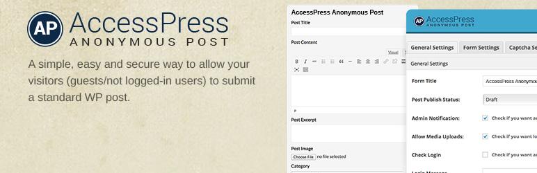WordPress Frontend Post WordPress Plugin – AccessPress Anonymous Post Plugin Banner Image