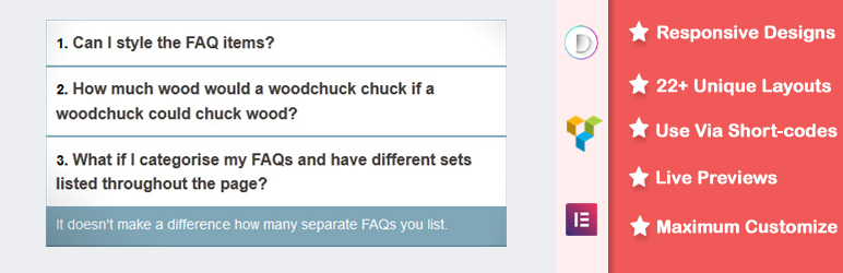 WordPress Accordions or FAQs Plugin Banner Image