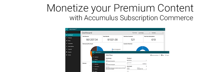 WordPress Accumulus Subscription Commerce Plugin Banner Image