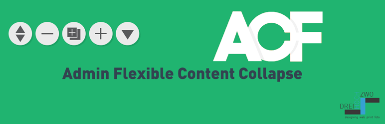 WordPress ACF Admin Flexible Content Collapse Plugin Banner Image