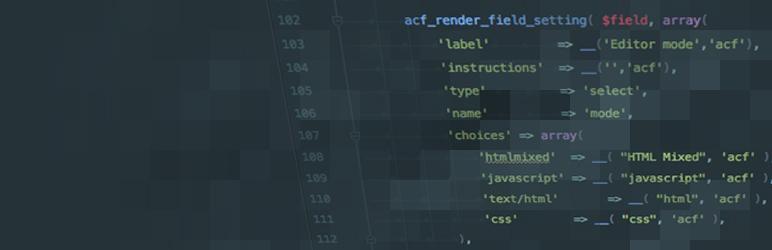 WordPress ACF Code Field Plugin Banner Image