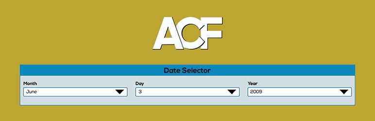 WordPress Advanced Custom Fields: Date Selector Plugin Banner Image