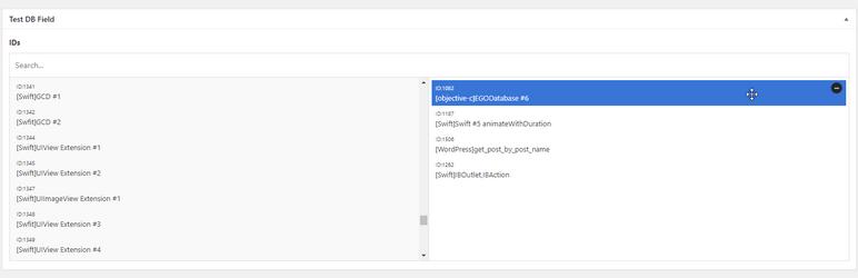 WordPress Advanced Custom Fields: DB Field Plugin Banner Image
