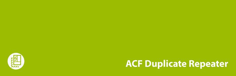 WordPress ACF Duplicate Repeater Plugin Banner Image