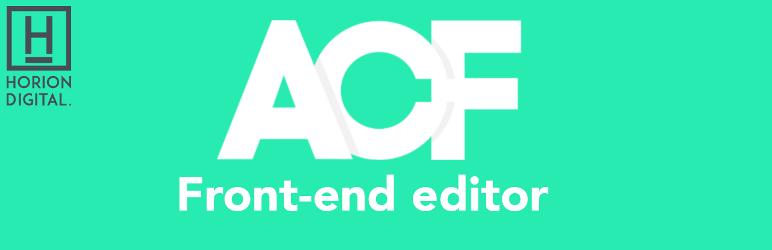 WordPress ACF Front End Editor Plugin Banner Image