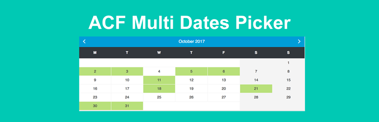 WordPress ACF Multi Dates Field Plugin Banner Image