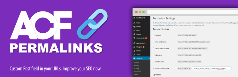 WordPress ACF Permalinks Plugin Banner Image