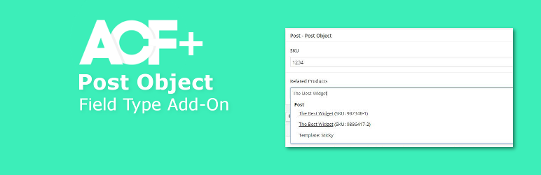 WordPress ACF Post Object Field Type Add-on Plugin Banner Image