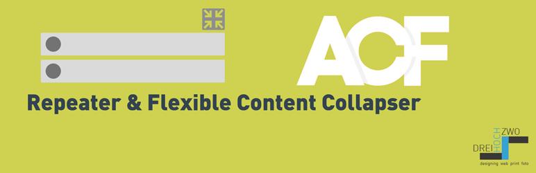 WordPress ACF Repeater & Flexible Content Collapser Plugin Banner Image