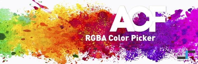 WordPress ACF RGBA Color Picker Plugin Banner Image