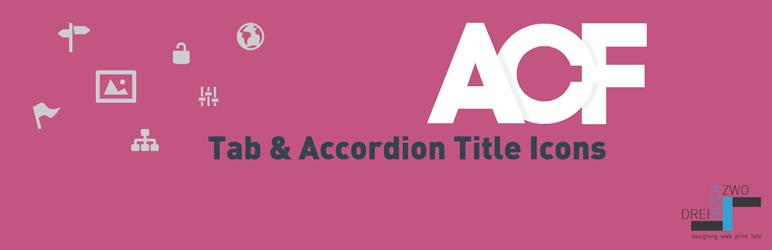 WordPress ACF Tab & Accordion Title Icons Plugin Banner Image