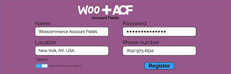 WordPress ACF Woocommerce Account Fields Plugin Banner Image