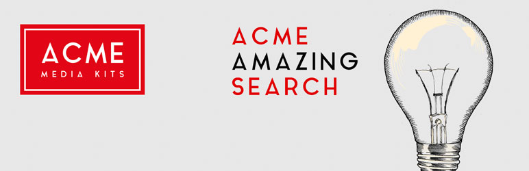 WordPress ACME Amazing Search Plugin Banner Image