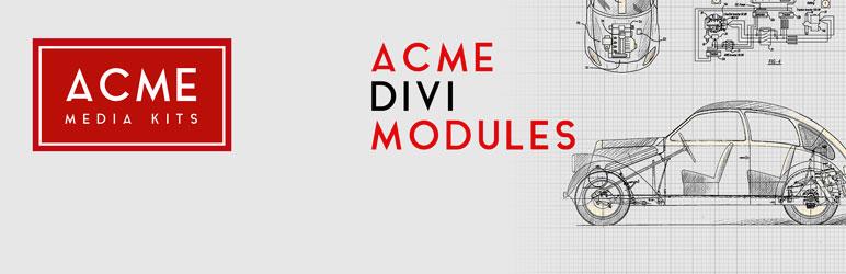 WordPress ACME Divi Modules Plugin Banner Image