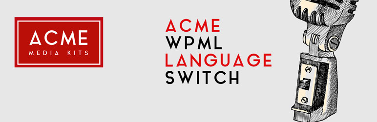 WordPress ACME WPML Language Switch Plugin Banner Image