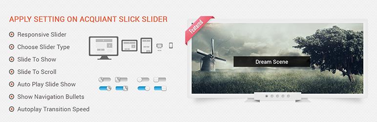 WordPress Acquaint Slick Slider Plugin Banner Image