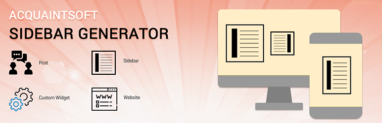 WordPress Acquaintsoft sidebar generator Plugin Banner Image
