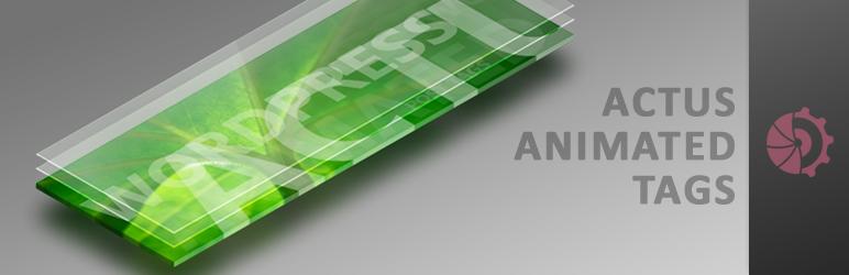 WordPress ACTUS Animated Tags Plugin Banner Image