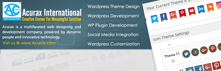 WordPress Social Media Widget by Acurax Plugin Banner Image