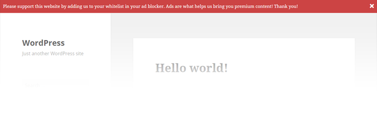 WordPress Ad Blocking Advisor Plugin Banner Image