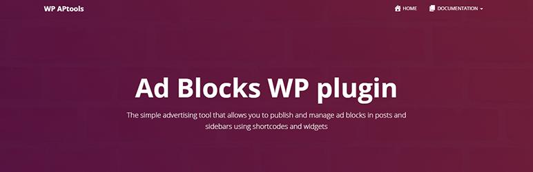 WordPress Ad Blocks Plugin Banner Image