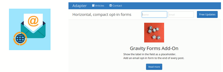 WordPress Adapter Gravity Add-On Plugin Banner Image