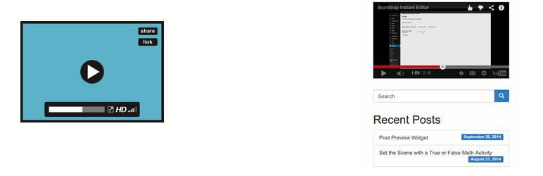 WordPress Adapter Responsive Video Plugin Banner Image