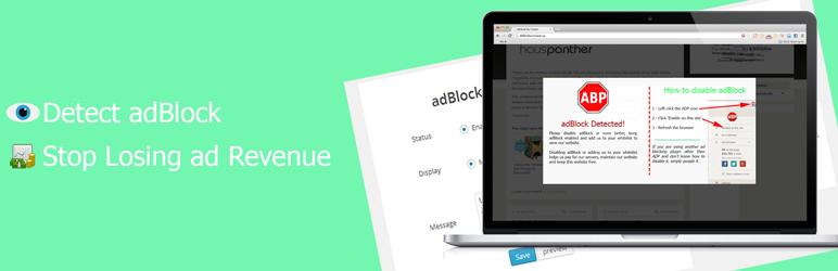 WordPress adBlock Alerter Plugin Banner Image