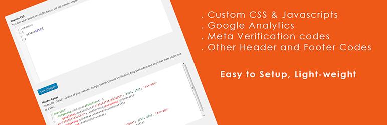 WordPress Add Custom Codes Plugin Banner Image