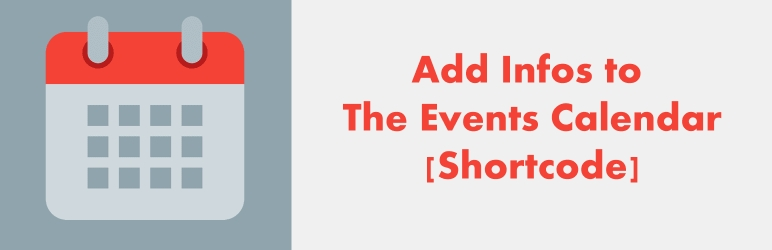 WordPress Add infos to the events calendar Plugin Banner Image