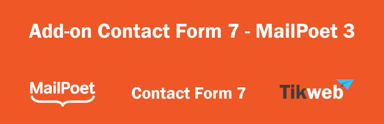 WordPress Add-on Contact Form 7 – MailPoet 3 Plugin Banner Image