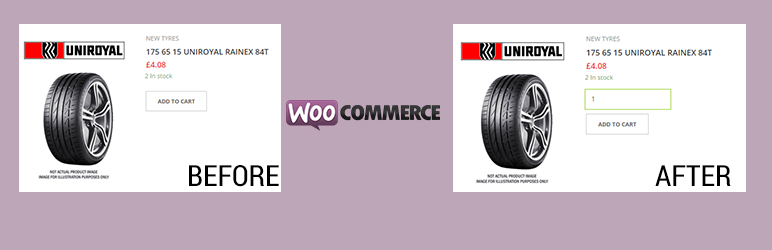 WordPress Add Quantity Field to Woocommerce archives, shop & category Plugin Banner Image